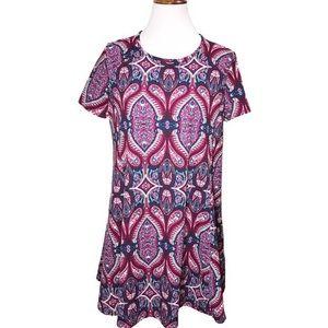 Show Me Your MuMu Paisley A Line Shirt Dress